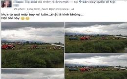 """Người tung tin máy bay rơi ở Nội Bài khai """"nghĩ là thật nên chia sẻ để mọi người biết"""""""