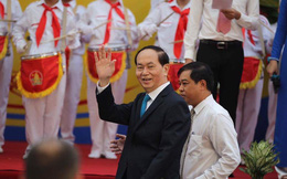 Chủ tịch nước Trần Đại Quang đánh trống khai giảng tại trường THCS Trưng Vương