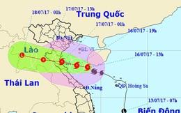 Bão số 2 với tâm bão giật cấp 12 áp sát Thanh Hóa - Hà Tĩnh, gây mưa rất lớn