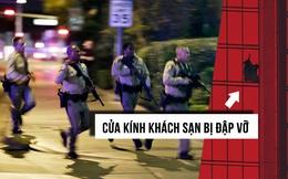"""Chuông báo cháy """"tố cáo"""" vị trí của tay súng đang lẩn trốn giữa 3.309 căn phòng khách sạn"""