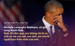 Diễn văn chia tay: Obama nghẹn ngào nói về phu nhân Michelle, khiến con gái Malia rơi nước mắt