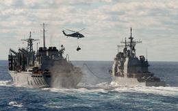 [VIDEO] Quy trình tiếp liệu cho tàu chiến Mỹ trên biển