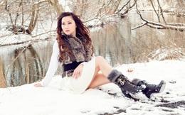 Em gái kết nghĩa của ca sĩ Ngọc Sơn thách thức cái lạnh âm 7 độ C
