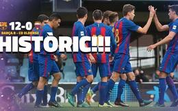 HLV bị bắt vì để đội nhà thua Barca B 12 bàn không gỡ