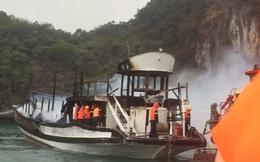 Đình chỉ đội tàu của công ty có tàu cháy trên vịnh Hạ Long