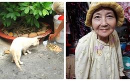 Cuộc đời buồn của cụ bà 80 tuổi đi ăn xin để chăm sóc chó, mèo hoang