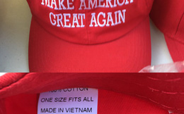 """Trong lễ nhậm chức của Trump, mũ """"Make America Great Again"""" là hàng """"Made in Vietnam"""""""