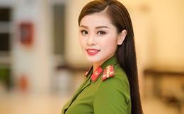 Thu Hằng mặc đồng phục công an, hội ngộ Trọng Tấn