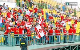 CĐV Hải Phòng xuất hiện tại sân Cần Thơ, khiến trận đấu tạm hoãn gần 30 phút