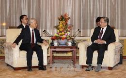 Tổng Bí thư Nguyễn Phú Trọng hội kiến với Chủ tịch Chính Hiệp Trung Quốc Du Chính Thanh