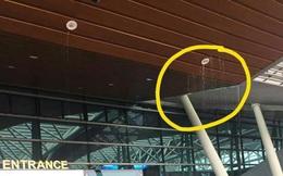 """Nhà ga sân bay quốc tế Đà Nẵng bị dột nước do... """"mưa quá lớn""""?"""