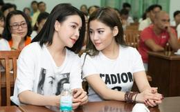 Trà Ngọc Hằng cùng bạn thân tích cực làm từ thiện