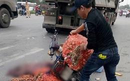 Người phụ nữ chở hàng bị xe tải cán tử vong