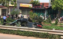 Ô tô bị tàu hỏa hất văng, chủ tịch Hội khuyến học huyện tử vong thương tâm