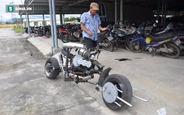 Cận cảnh chiếc mô tô độ cả súng đại liên, băng đạn vừa bị CSGT Đà Nẵng bắt giữ
