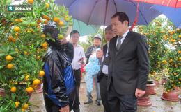 Chủ tịch Đà Nẵng đi chợ hoa ngày mưa, nghe người dân chia sẻ khó khăn