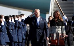 """Tuyên bố Mỹ """"thống trị trời, biển, đất, không gian"""" và thông điệp trên mũ 2 ông Trump-Abe"""