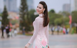 Hoa hậu Biển Thùy Trang mong manh giữa thời tiết lạnh