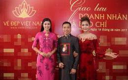 Hoa hậu Ngọc Hân mặc áo dài dát vàng 9999