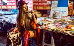Hình ảnh cá tính và gợi cảm của nữ stylist trên phố Hà Nội