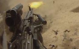 Súng máy M249 SAW gặp sự cố khi đang bắn, xạ thủ suýt tử nạn