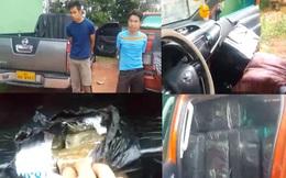 2 thanh niên dùng xe bán tải chở 1 tấn cần sa đi buôn