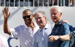 Hình ảnh hiếm về cuộc hội ngộ bất ngờ của ba cựu Tổng thống Mỹ