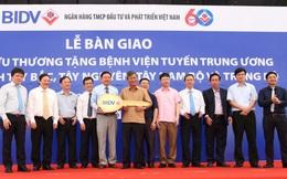 46 xe cứu thương đầy đủ tiện nghi được BIDV tặng bệnh viện và các cơ sở y tế