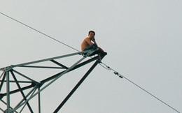 Người từng cố thủ trên cột điện cao thế 8 giờ liền lại tiếp tục leo cột điện