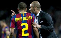 Pep Guardiola phải cám ơn Dani Alves vì... từ chối mình