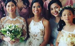 Tăng Thanh Hà lộ bụng bầu khi dự lễ cưới xa hoa nhà chồng