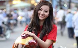 Chân dung cô gái răng khểnh nổi bật giữa khán đài cổ vũ U23 Việt Nam