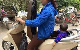 """Bà mẹ sáng tạo bất thường khi """"cho con vào cốp xe"""" khiến dân mạng tranh cãi"""