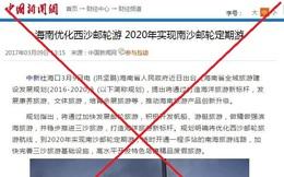 Trung Quốc ngang ngược triển khai du lịch tàu biển đến Trường Sa