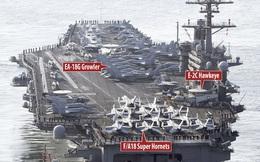Uy lực tàu sân bay Mỹ triển khai đối phó Triều Tiên