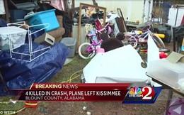 Máy bay gãy cánh giữa trời, cả gia đình tử vong