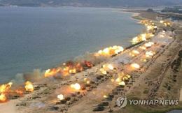 Thông điệp sau màn khai hỏa 300 khẩu pháo bắn ra biển của Triều Tiên