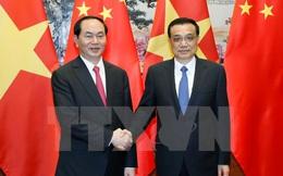 Chủ tịch nước hội kiến Thủ tướng Trung Quốc Lý Khắc Cường