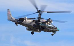 Trực thăng Ka-52 Nga phóng tên lửa thiêu xe tăng IS tại Homs