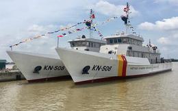 Nhà máy X51 hạ thủy hai tàu kiểm ngư thiết kế KN 3600
