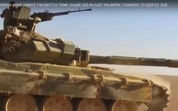 Xe tăng T-90 Nga thần tốc băng sa mạc truy diệt IS tại Syria