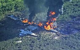 Cận cảnh hiện trường thảm khốc vụ rơi máy bay quân sự Mỹ: Không ai sống sót