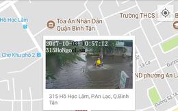 """Người Sài Gòn dùng smartphone """"né"""" ngập!"""