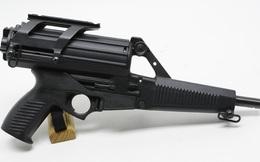 """Calico M950 – Mẫu súng ngắn lạ với hộp tiếp đạn """"khủng"""" 100 viên"""