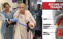 Cô gái được ghép 5 tạng đầu tiên trên thế giới
