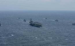 3 tàu sân bay Mỹ cùng phối hợp tập trận chưa từng có ở Châu Á