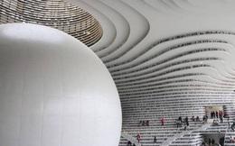 """Choáng ngợp với thư viện như một """"vũ trụ sách"""" khổng lồ tại Thiên Tân, Trung Quốc"""