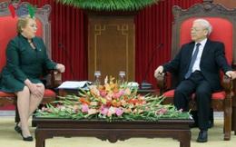 Tổng Bí thư Nguyễn Phú Trọng tiếp Tổng thống Cộng hòa Chile