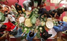 Đại gia đình 70 người bắt lợn, mở hội gói bánh chưng đón Tết