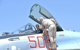 Tổng thống Syria cưỡi chiến đấu cơ Su-35 Nga